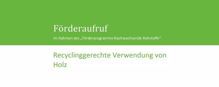 Recyclinggerechte Verwendung von Holz