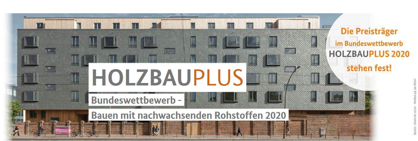Bundesministerin Julia Klöckner ehrt Sieger des HolzbauPlus-Wettbewerbs 2020