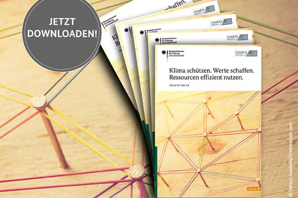 Charta für Holz 2.0: Broschüre neu aufgelegt